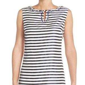 Ellen Tracy Striped Shantung Sheath Dress